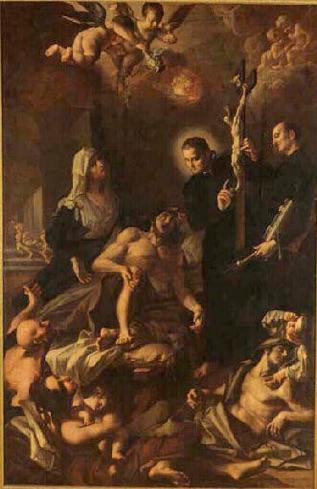 St François Xavier bénissant les pestiférés
