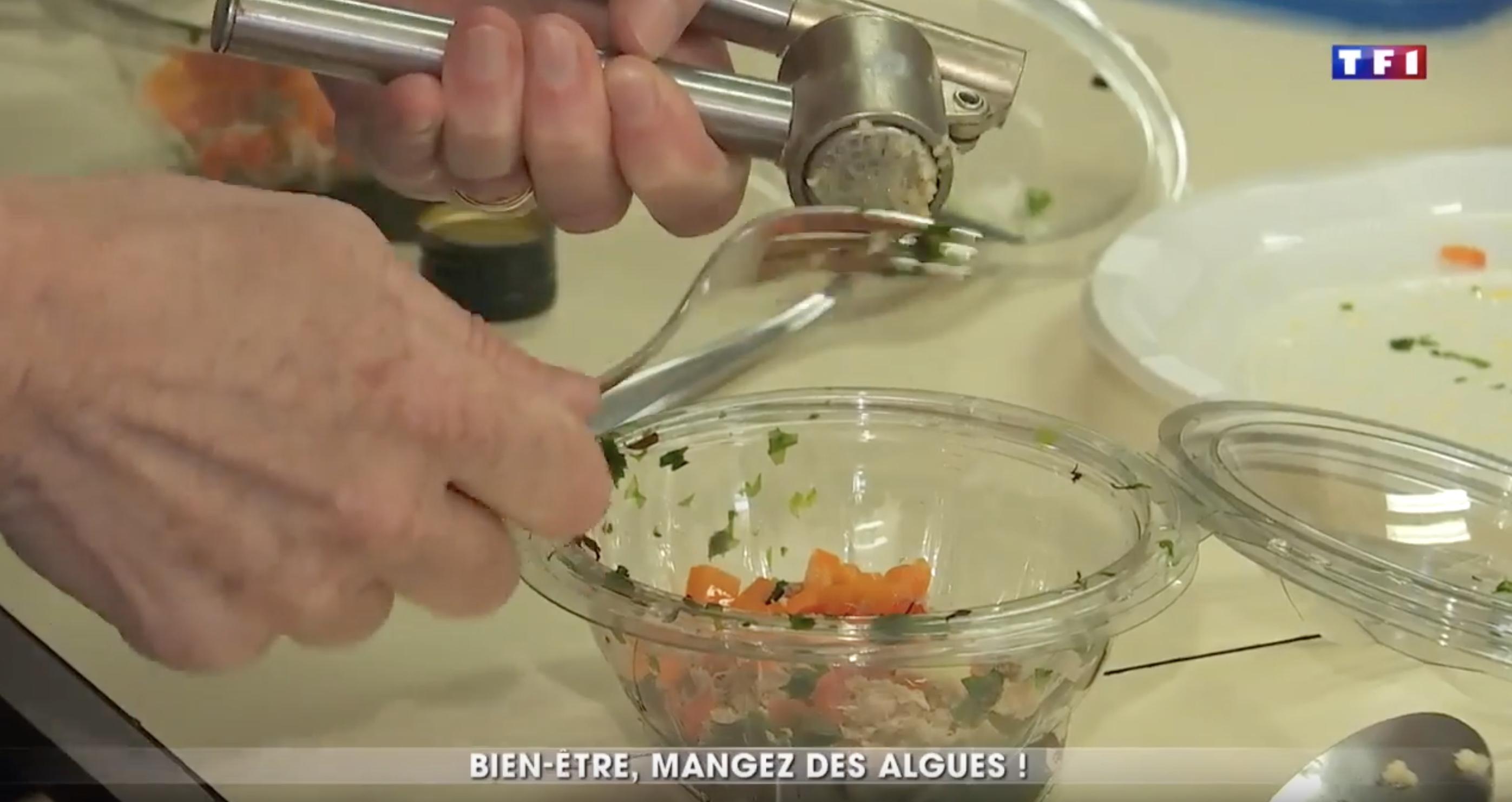 Atelier de cuisine aux algues sur TF1